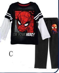Free shipping Baby Boys Spiderman Toddler clothing set child's clothes Pajamas Sets Nightwear Homewear