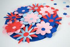 DIY : carte de fête des mères façon bouquet de fleurs