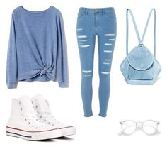 """jeans"" by faithlovexo on Polyvore featuring Gap, River Island, Converse and MANU Atelier"