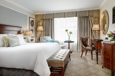 The Shelbourne Dublin, A Renaissance Hotel King Deluxe Guest Room City Centre Dublin, Dublin City, Best Hotel Deals, Best Hotels, Hotel Bedroom Decor, Hotel Bedrooms, Dublin Hotels, Atlanta Hotels, Renaissance Hotel