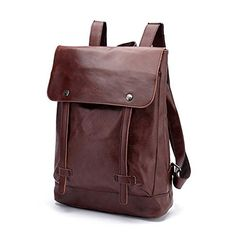 "CORLISS Casual Stylish Mens Womens Fuax Leather Backpack Satchel School Daypack Business Laptop Bag Enough Room for 14"" Computer,A4 files,Ipad etc (Coffee) CORLISS http://www.amazon.co.uk/dp/B00X480PIM/ref=cm_sw_r_pi_dp_VT25wb02FPB3G"