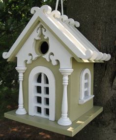 Decorative Bird Houses are a bird lovers architectural delight! Decorative bird houses in sizes from small bird houses to castle bird houses. Bird House Kits, Decorative Bird Houses, House Yard, House Gifts, Fairy Houses, Hearth, Backyard, Birds, Decoration