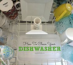 How to clean your dishwasher to make it run better! Good to know!