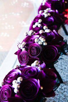 Items similar to Purple and Black Wedding bouquet- Paper Flower Bouquet on Etsy Purple Black Wedding, Purple Party, Paper Flowers Wedding, Purple Wedding Flowers, Wedding Colors, Perfect Wedding, Our Wedding, Dream Wedding, Wedding Ideas