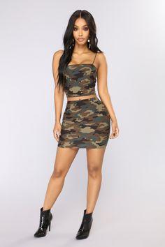 a30306fecf Love Is War Camo Set. Camo Mini Skirt ...
