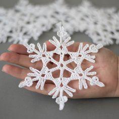 Adornos navideños decoración hecha a mano de Navidad copos de