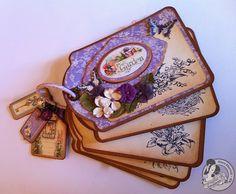Secret Garden Tag Album Staples Clare Charvill Graphic 45 Mini Album