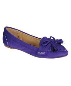 Take a look at this Purple Catchy Ballet Flat by Bamboo on #zulily today! $18 !!