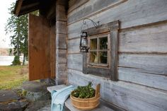 Exterior of the traditional Juuka based smoke sauna introduced in the Wall… Saunas, Sauna For Sale, Sauna Design, Outdoor Sauna, Finnish Sauna, Backyard Buildings, Sauna Room, Red Cottage, Finland