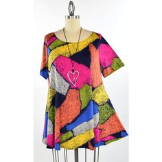 New Exotic Print Tunic dare2bstylish Tunic Travelers Tunic Top Small... (440 MXN) ❤ liked on Polyvore featuring tops, tunics, going out tops, plus size party tops, womens plus tunics, summer tunics and party tops
