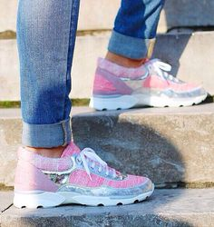 Pink chanel sneakers