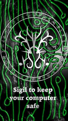 Sigil to keep your computer safe Sigil requests are open Wiccan Symbols, Magic Symbols, Viking Symbols, Egyptian Symbols, Viking Runes, Ancient Symbols, Wiccan Spell Book, Witch Spell, Magick Spells