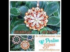 DIY Tutorial Ciondolo Autumn collaborazione con sito Perlinebijoux - YouTube