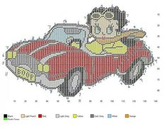 Betty Boop in classic car