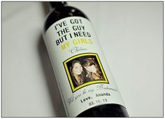 Ask Will You Be My Bridesmaid with a custom wine bottle wrapper