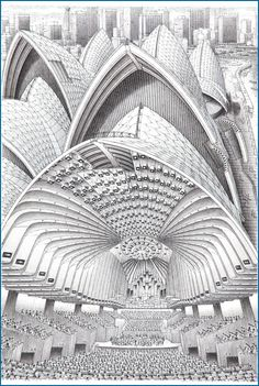 Stephen Biesty - Illustrator - Inside-out Views_Sydney Opera House He really had some time on his hand :)