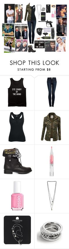 """Paintball with 1D and 5SOS (Read D)"" by blueknight ❤ liked on Polyvore featuring Spyder, Paige Denim, J.TOMSON, 2b bebe, Stila, Essie, Miss Selfridge, Topshop, Coach and Payne"