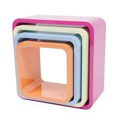 Sebra Regal quadratisch 4er Set Candy - Emil & Paula