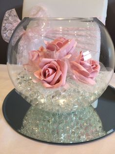 Wedding Table Decorations Using Fish Bowls Luxury - Fish Bowl Wedding Centrepiece With Pink Roses. Hire In South Wales intended for Wedding Table Decorations Using Fish Bowls Fishbowl Centerpiece, Party Table Centerpieces, Wedding Table Centerpieces, Wedding Decorations, Fish Bowl Centerpiece Wedding, Fish Bowl Decorations, Quinceanera Centerpieces, Wedding Tables, Centerpiece Ideas