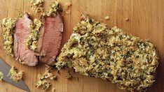 Roasted Lamb Loins with Mustard-Herb Crust - Recipe - FineCooking