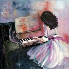 La pianiste 2 painting by neela artmajeur Piano Girl, Foto Blog, Playing Piano, Music Images, Art Music, Belle Photo, Art Inspo, Amazing Art, Pop Art
