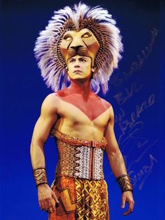 Carlos Rivera As The Lion King In Spain