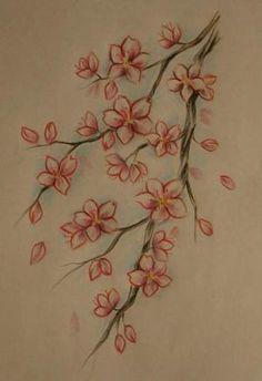 cherry blossom tattoo by suzana