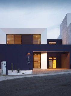 fachada principal casas de estilo minimalista por regin 4 arquitectura