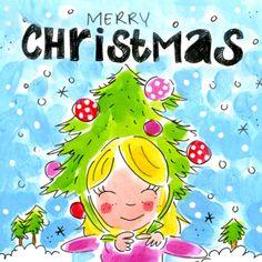 Meisje met kerstboom op haar hoofd- Greetz