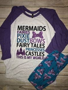 Mermaids, Fairies, Pixie Dust - What More Could You Ask For? Disney Dream, Disney Fun, Disney Girls, Disney Style, Punk Disney, Disney Facts, Disney Movies, Disney Characters, Disney World Outfits