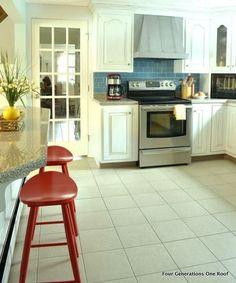 modern white cottage kitchen makeover, home decor, kitchen backsplash, kitchen design, New french door added white painted cabinets