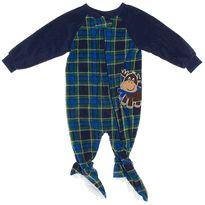Blue Plaid Reindeer Blanket Sleeper for Boys $7.99