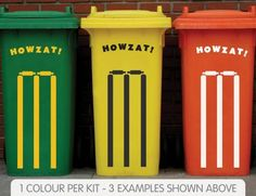 Cricket Stumps Wheelie Bin Sticker - Buy Online Wheelie Bin Stickers, Australian Party, Australia Day, Flag Design, Olympic Games, Long Weekend, Cricket, Olympics, Party Themes