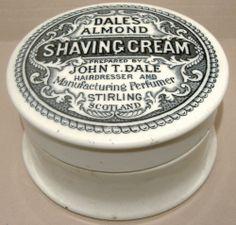 Large John Dale of Stirling Scotland Shaving Cream Pot Lid & Base c1900's