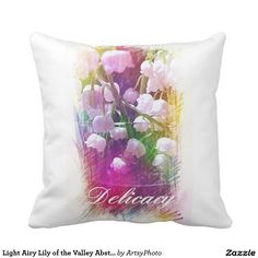 Light Airy Lily of the Valley Abstract Botanical