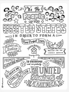 Fun Learning, Learning Activities, Activities For Kids, Color Activities, American Revolution, Constitution, Marketing And Advertising, Coloring Pages, Stuff To Do