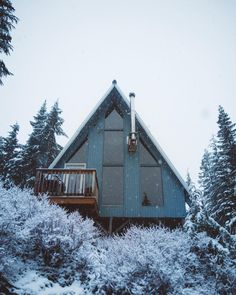 Architecture – Enjoy the Great Outdoors! A Frame Cabin, A Frame House, Cabin Homes, Log Homes, Tiny Homes, Cabin In The Woods, Cabins And Cottages, Cozy Cottage, House Goals