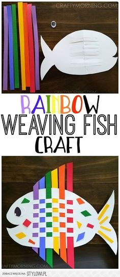 Make a weaving rainbow fish craft with the kids! So cute for an ocean theme Make a weaving rainbow fish craft with the kids! So cute for an ocean theme Easy Crafts For Kids, Toddler Crafts, Projects For Kids, Fun Crafts, Craft Projects, Craft Ideas, Paper Craft For Kids, Arts And Crafts For Kids For Summer, Summer Kid Crafts