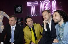 (Left-right) Steve Pemberton, Reece Shearsmith, Mark Gatiss and Jeremy Dyson. (Photo by Joel Ryan - PA Images/PA Images via Getty Images) Royston Vasey, Inside No 9, Steve Pemberton, Reece Shearsmith, League Of Gentlemen, Mark Gatiss, Tasty Snacks, Photo Grouping, Television Program