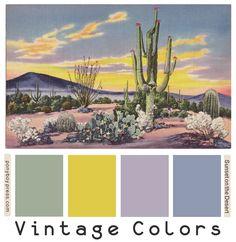 Vintage Color Palettes - Sunset on the Desert - ponyboypress.com