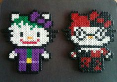 Joker and Harley Quinn Hello Kitty perler beads. by sugargalaxystore