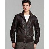 John Varvatos USA Leather Aviator Jacket