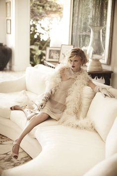 Ostrich Feather Boas | 1920's 1930's Ostrich Feather Boa ...