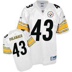 ... Reebok Pittsburgh Steelers Troy Polamalu 43 White Authentic Jerseys  Sale ... e6f325033