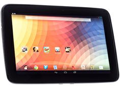 Google Nexus 10 Inch tab, made by Samsung, 1.7 GHz processor, very decent screen too.