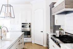 Castello Kitchen - Contemporary - Kitchen - San Diego - by Savvy Interiors Glass Closet Doors, Laundry Room Doors, Painted Closet, Ceramic Door Knobs, Corner Pantry, Bedroom Door Design, Transitional Kitchen, Kitchen Contemporary, Front Door Makeover