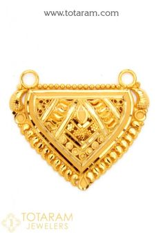Gold Pendants - View and shop our collection of gold pendants made in India - Indian Gold Jewelry - Buy Online South Indian Jewellery, Indian Jewellery Design, Jewelry Design, Pendant Jewelry, Gold Jewelry, Jewelery, Gold Choker Necklace, Gold Necklaces, India Jewelry