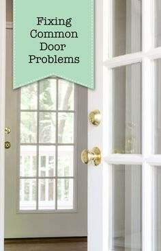 Fixing Common Door Problems - Door rubs or doesn't close properly? If so, this tutorial covers all the issues and explains how to fix them. Home Diy, Handyman Projects, Updating House, Bathrooms Remodel, Easy Diy Decor, Home Repairs, Home Projects, Diy Home Repair, Home Fix
