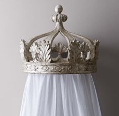 RH baby&child's Pewter Canopy Bed Crown:Our grand pewter crown commands attention, transforming an ordinary room into a royal retreat.