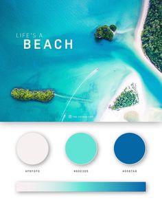 Flat Color Palette, Website Color Palette, Colour Pallette, Colour Schemes, Color Trends, Beach Color Palettes, Web Design Color, Ui Color, Ui Design